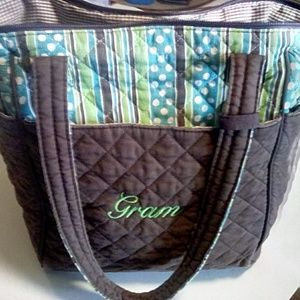 Vivary Diaper Bag Brown, Blue